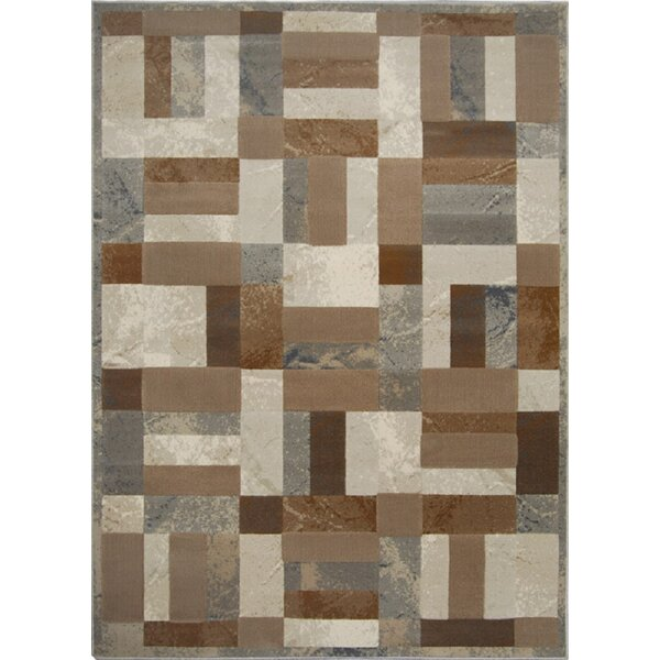 Gannaway Gray/Brown Area Rug by Red Barrel Studio