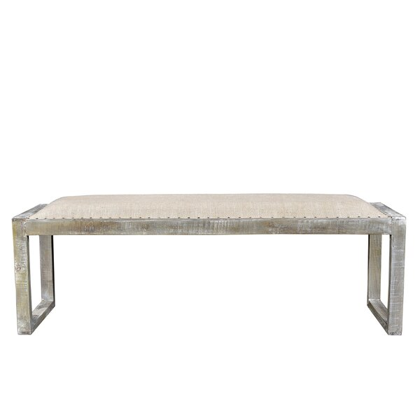 Izmir Wood Bench by Bungalow Rose