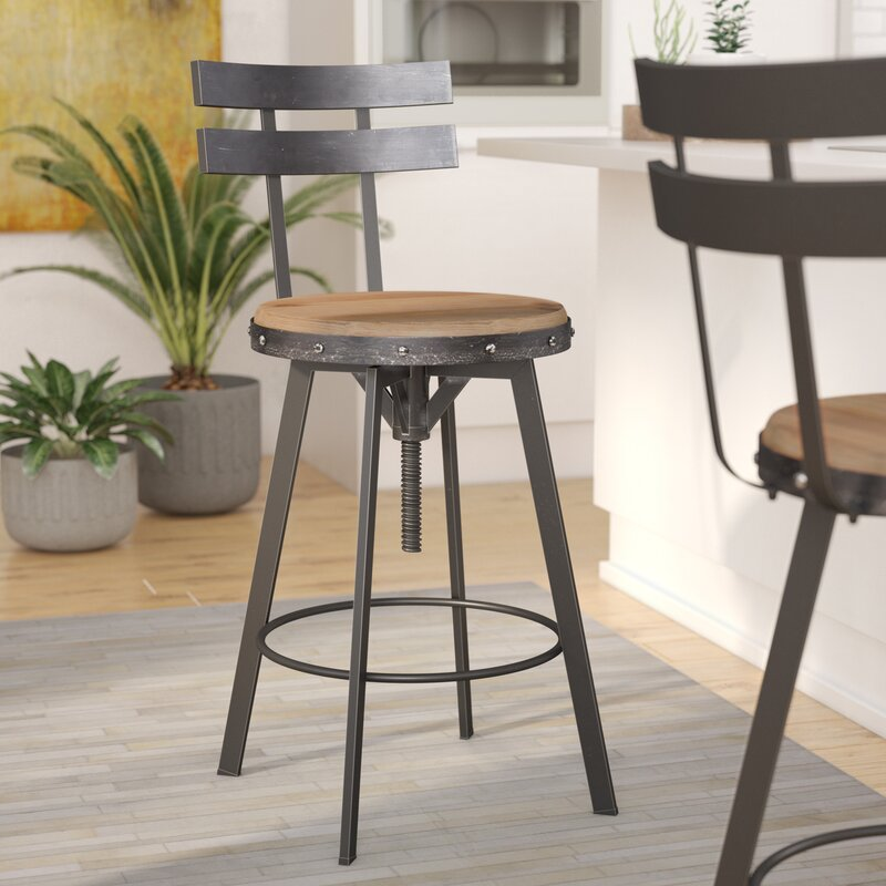 Sylvania Adjustable Height Swivel Bar Stool