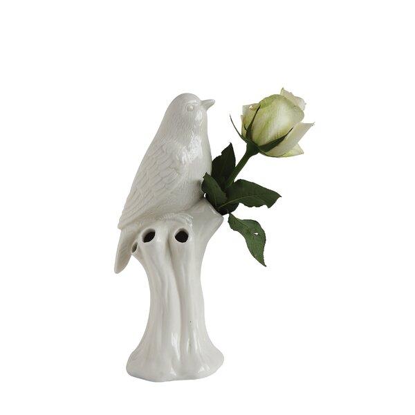 Knarr Bird Stoneware Table Vase by Ophelia & Co.