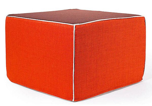 Rebel Window Ottoman in Orange and Chocolate by Jiti