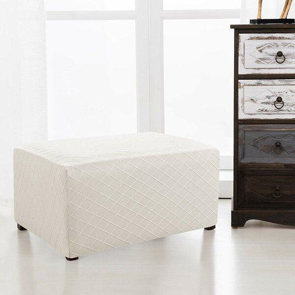 Rhombus Oversized Box Cushion Ottoman Slipcover By Winston Porter