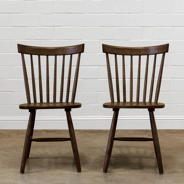 Trimont Slat Back Side Chair In Brown (Set Of 2) By Gracie Oaks