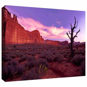'High Desert Dawn' by Dean Uhlinger Photographic Print on Wrapped Canvas by ArtWall