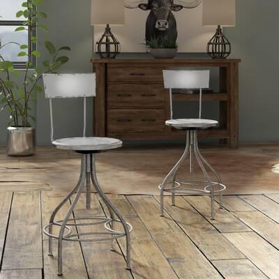 Awe Inspiring Williston Forge Wellman Adjustable Height Swivel Bar Stool Machost Co Dining Chair Design Ideas Machostcouk