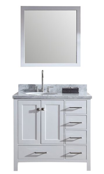 Marine 37 Single Bathroom Vanity Set with Mirror by Andover Mills