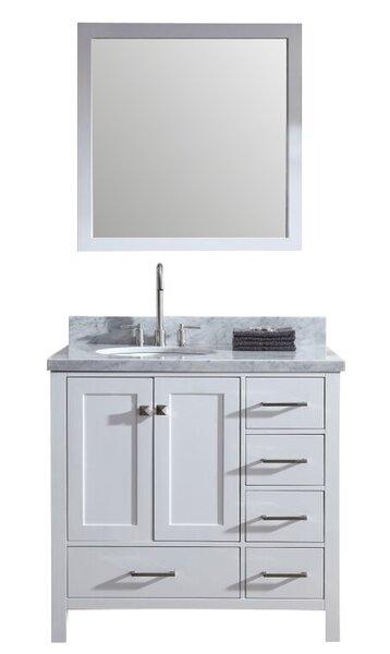 Marine 37 Single Bathroom Vanity Set with Mirror by Andover Mills