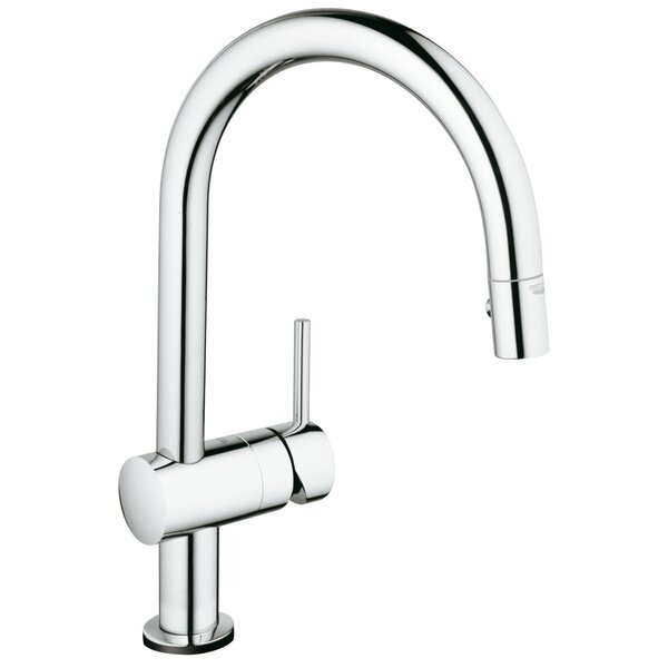 Minta Pull Down Touch Single Handle Kitchen Faucet with SilkMove® by Grohe