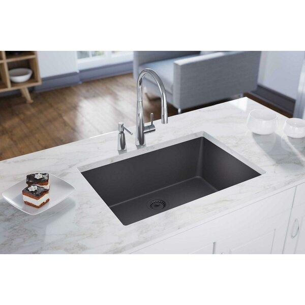 Quartz Luxe 33 L x 18 W Undermount Kitchen Sink by Elkay