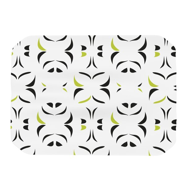 Retro Green Snow Storm Placemat by KESS InHouse