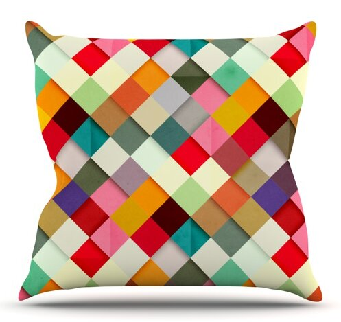 Pass This On by Danny Ivan Outdoor Throw Pillow by East Urban Home