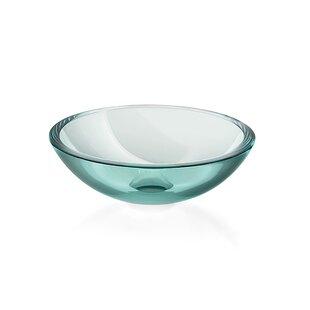 Read Reviews Acquaio Glass Circular Vessel Bathroom Sink ByWS Bath Collections