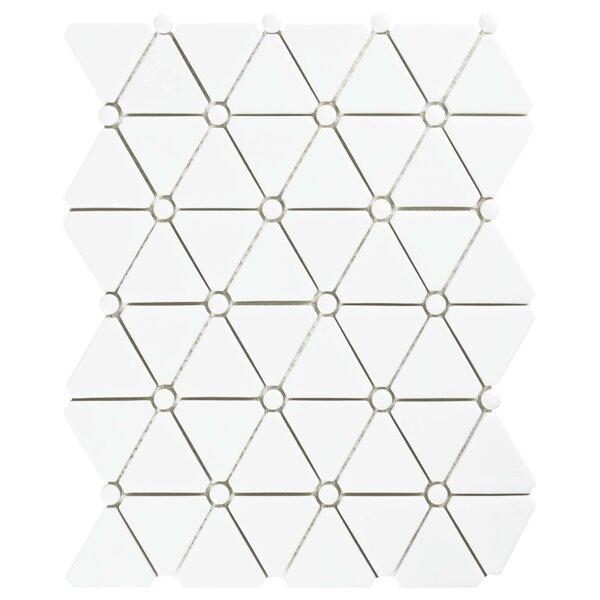 Esamo 10.13 x 12.88 Glass Mosaic Tile in White by EliteTile