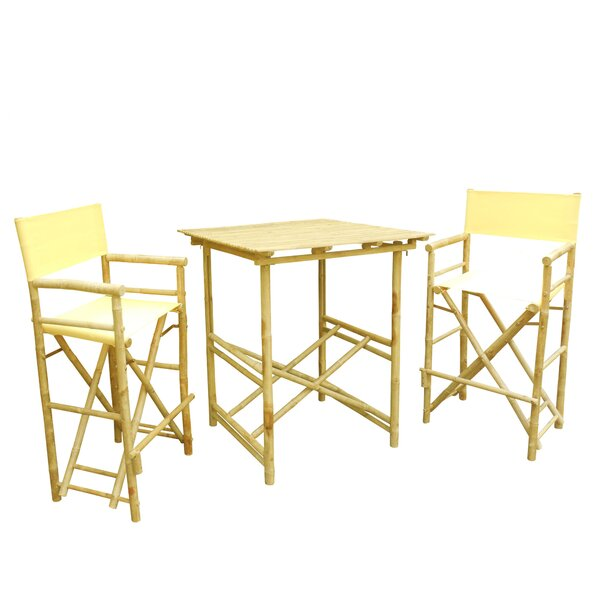 3 Piece Bar Height Dining Set by ZEW Inc