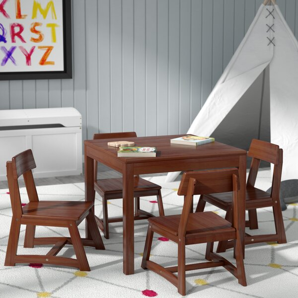Anneri 5 Piece Square Table and Chair Set by Viv + Rae