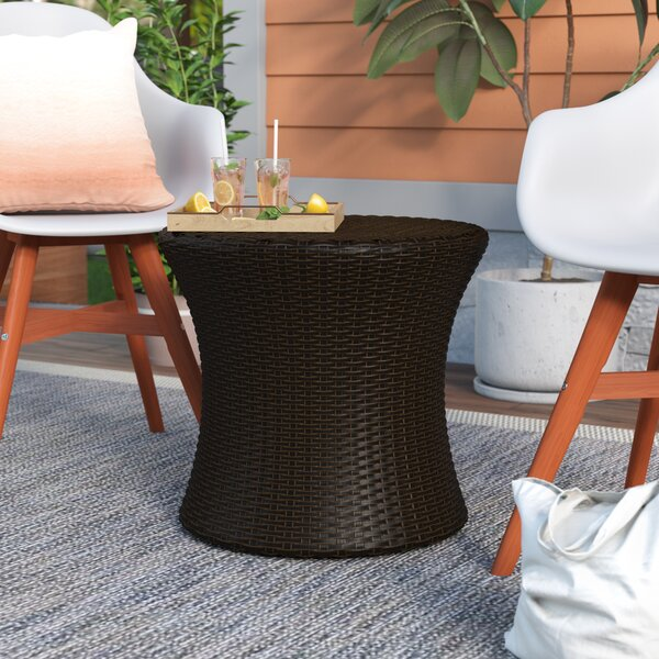 Landers Wicker/Rattan Side Table by Mercury Row