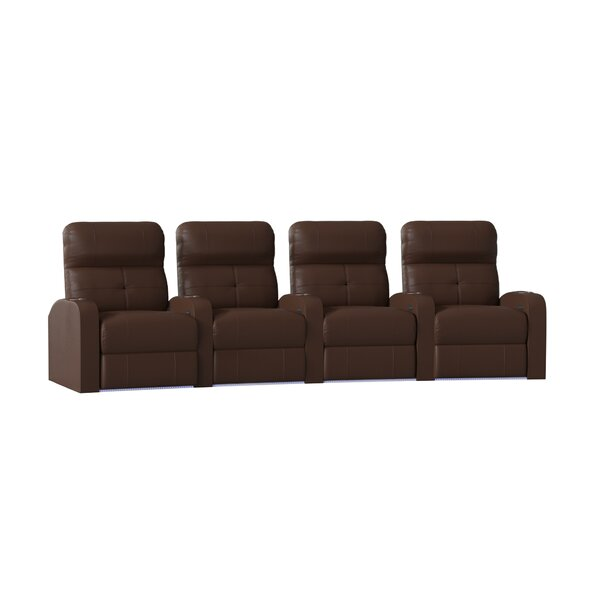 Tufted Home Theater Curved Row Seating (Row Of 4) By Latitude Run