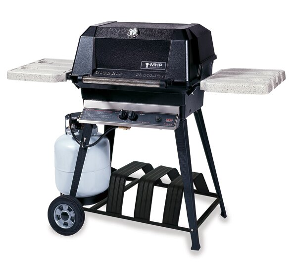 Heritage 1-Burner Propane Gas Grill with Side Shelves by Modern Home Products