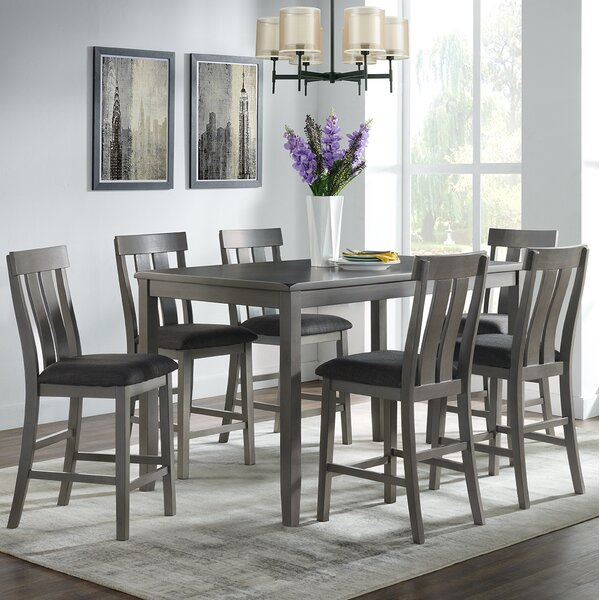 Gasquet 7 - Piece Counter Height Dining Set by Red Barrel Studio Red Barrel Studio