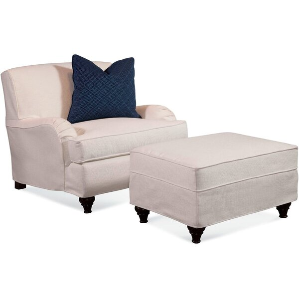 Crown Estate T-Cushion Ottoman Slipcover by Braxton Culler