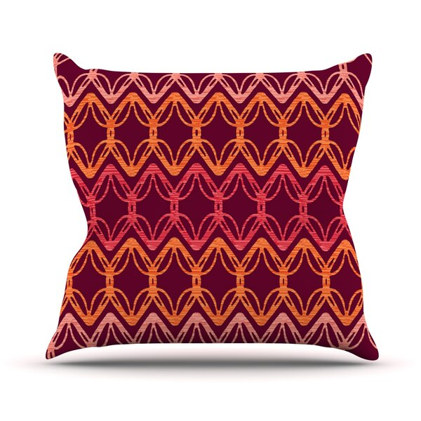 Rick Rack by Suzie Tremel Outdoor Throw Pillow by East Urban Home
