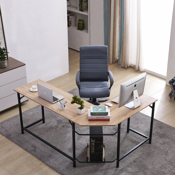 Menasha Corner L-Shape Executive Desk by Latitude Run