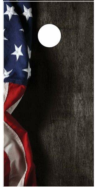 Hanging American Flag Cornhole Board by Lightning Cornhole