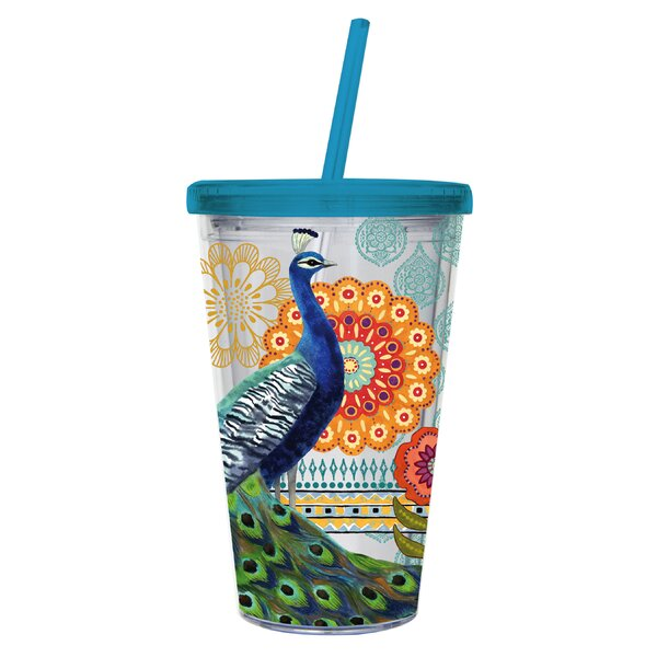 Shaw 17 oz. Plastic Travel Tumbler by Bloomsbury Market