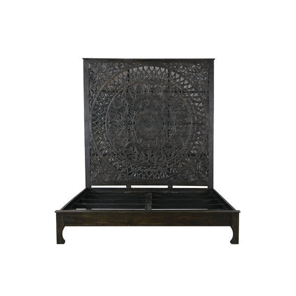 Alia Carved Standard Bed by Mistana Mistana