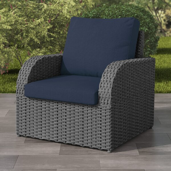 Killingworth Weather Resistant Resin Wicker Patio Chair with Cushions by Rosecliff Heights