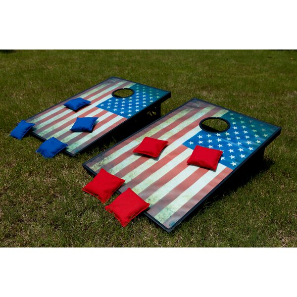 U.S. Flag Toss Game Cornhole Set by Festival Depot