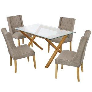 Essgruppe Cadiz mit 4 Stühlen von Modern You
