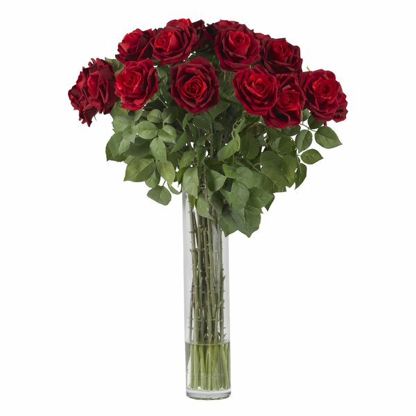 Large Rose Silk Floral Arrangements by Nearly Natural