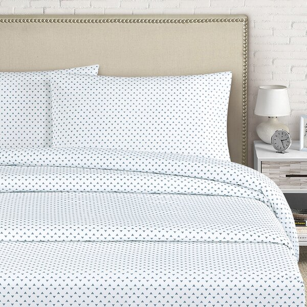 Cleo 250 Thread Count Cotton Percale Sheet Set by Echelon Home