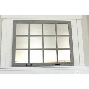 Millwood Pines Fontainbleau Farmhouse 12 Windowpane Accent Mirror