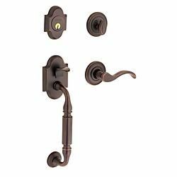 Canterbury Full Dummy Handleset with Interior Knob and Sectional Trim by Baldwin
