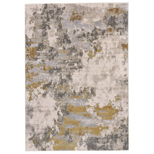 Reichenbach Gold/Birch Area Rug by Bloomsbury Market