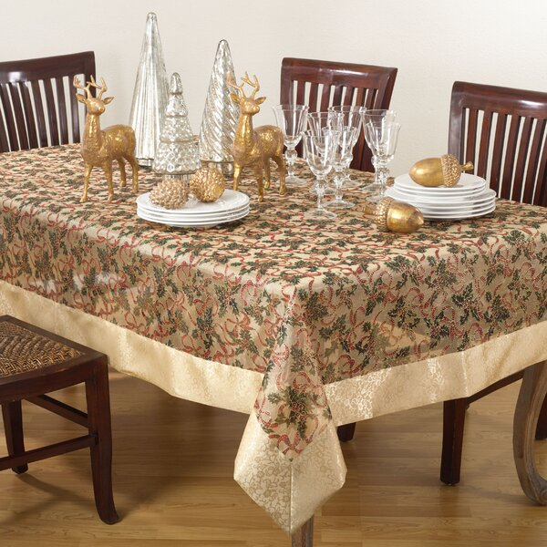 Printed Christmas Tablecloth by The Holiday Aisle