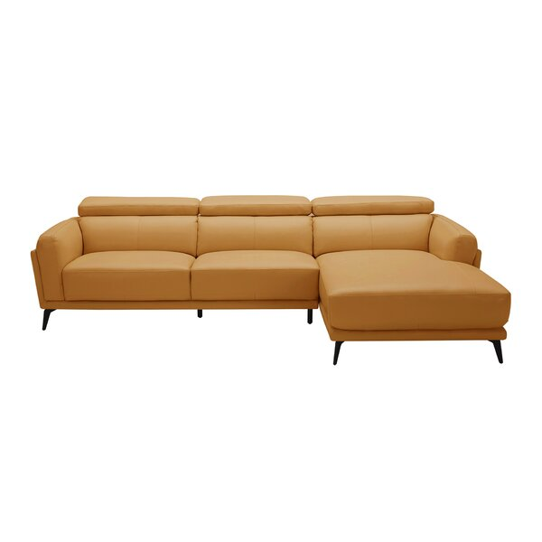 Huguley Cow Hide Sectional by Orren Ellis