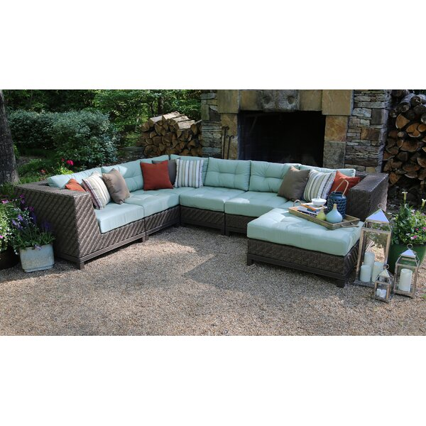 Nabors Patio Sectional with Sunbrella Cushions by Red Barrel Studio