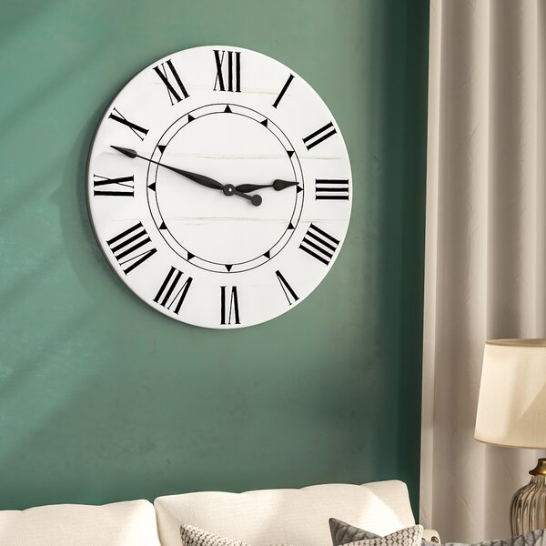Oversized Tracee Farmhouse Wall Clock by Darby Home Co