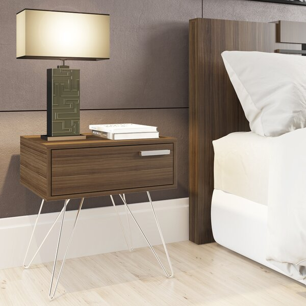 Bourn 1 Drawer Nightstand by Orren Ellis