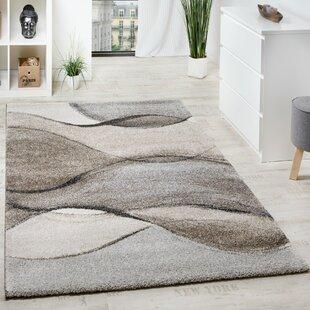 Noemie Moderner Teppich Kurzflor Meliert Wohnzimmer Nuancen in Grau