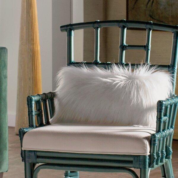 Vanbuskirk Faux Fur Lumbar Pillow by Mercury Row