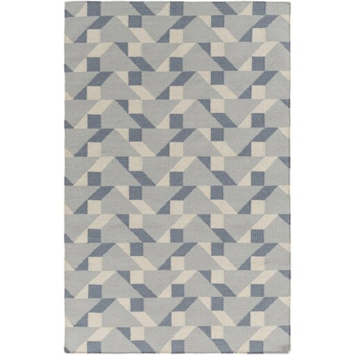 Flatweave Tufted Cotton Slate Area Rug by Surya