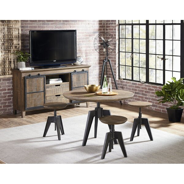 Naquin 4 Piece Adjustable Pub Table Set by 17 Stories