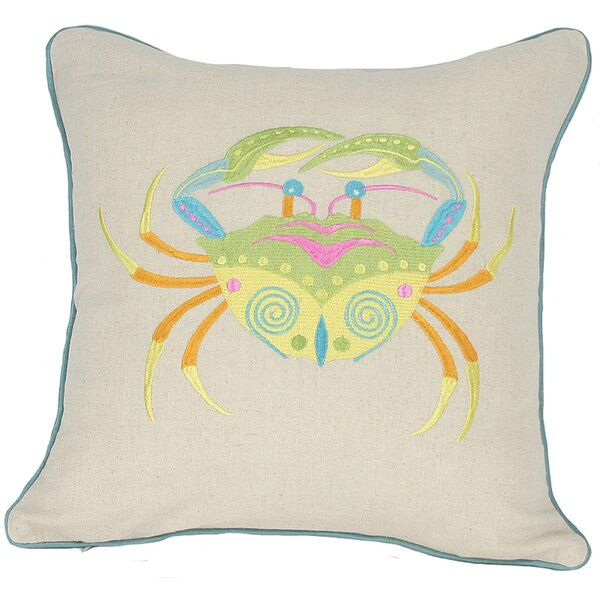 Archipelago Crab Throw Pillow by Manor Luxe