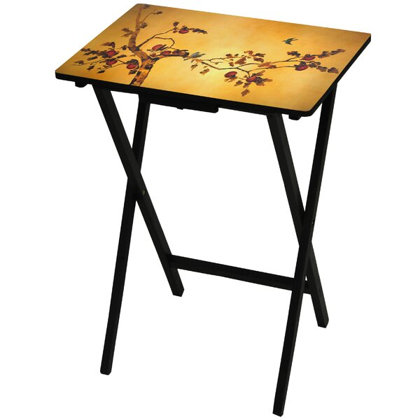 Plum Blossom TV Tray by Oriental Furniture