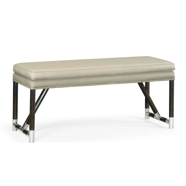 Campaign Wood Bench by Jonathan Charles Fine Furniture Jonathan Charles Fine Furniture