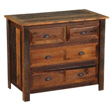 Premium Barnwood 4 Drawer Dresser by Fireside Lodge